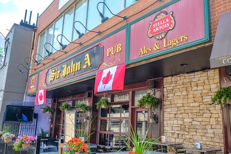 old pub entrance with front patio for sir john a ottawa pubs