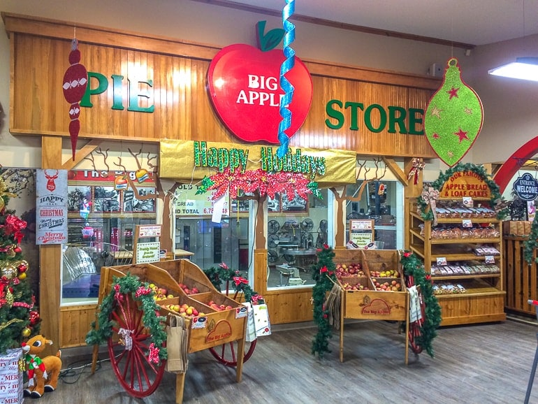 wooden store interior with displays the big apple colborne ontario