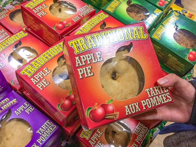 apple pie in red box the big apple colborne ontario