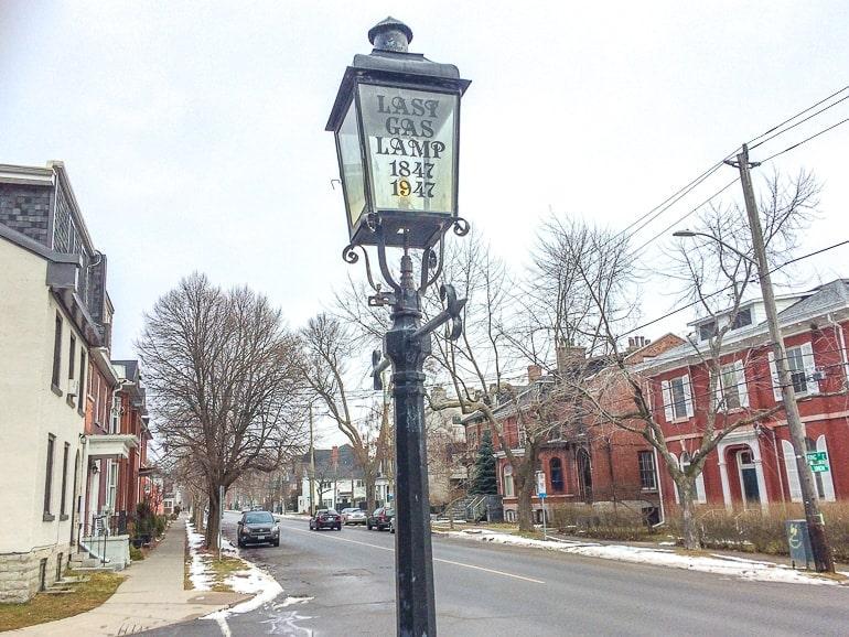 black lamp post in old neighbourhood things to do in kingston ontario