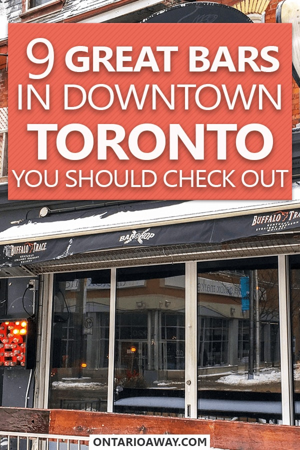 Great Bars in Downtown Toronto