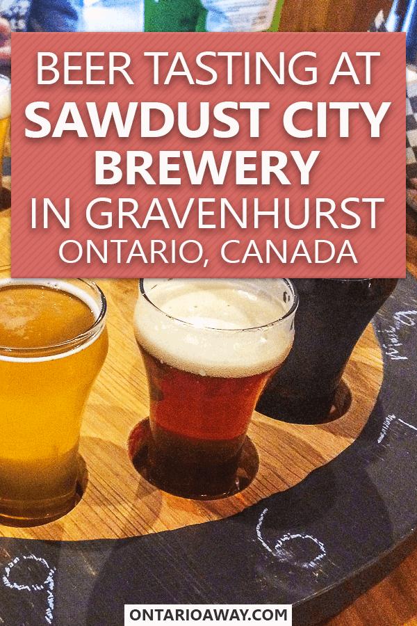 Beer Tasting At Sawdust City Brewery Ontario Canada