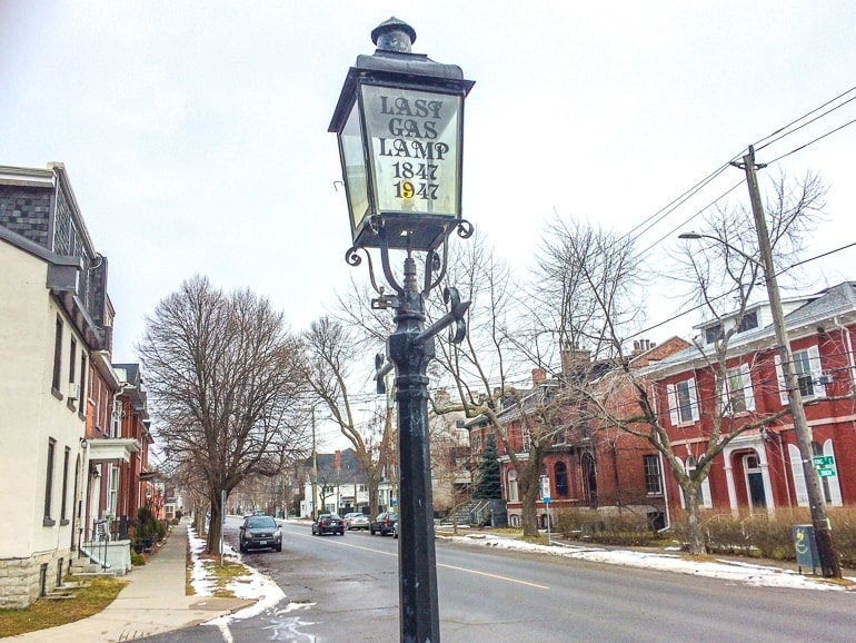 lamp post in old neighbourhood places to stay in kingston ontario