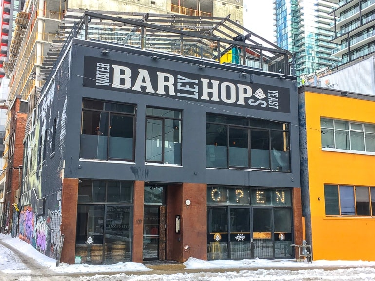 large bar with rooftop patio downtown visiting toronto