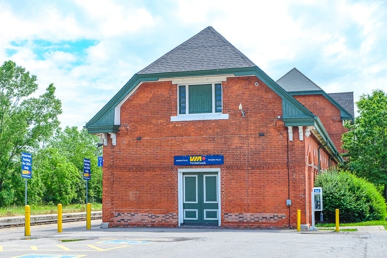 red brick train station building toronto to niagara falls