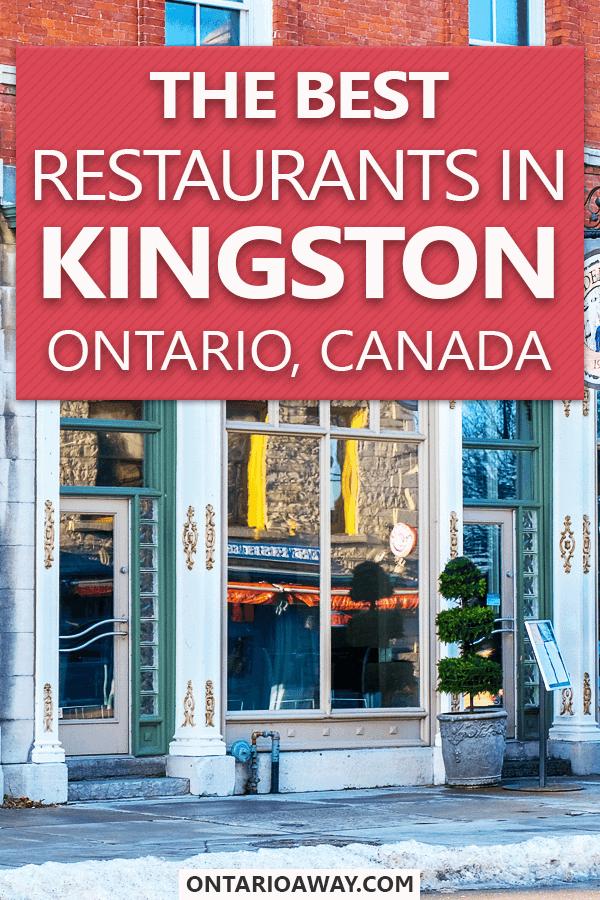 Best Restaurants in Kingston Ontario