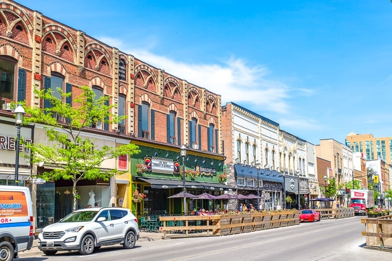 red brick buildings downtown barrie ontario bars and restaurants