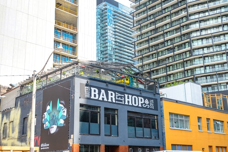bar with rooftop patio downtown toronto entertainment district