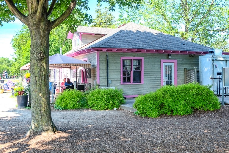 pink house beside rivers the boathouse tea room things to do in guelph