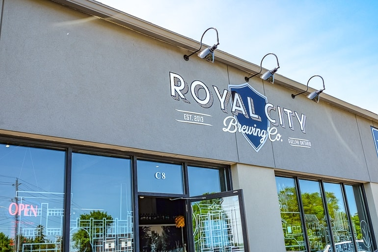 outside of brewery with logo guelph ontario royal city
