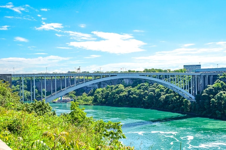 large metal rainbow bridge spanning niagara river things to do niagara falls canada