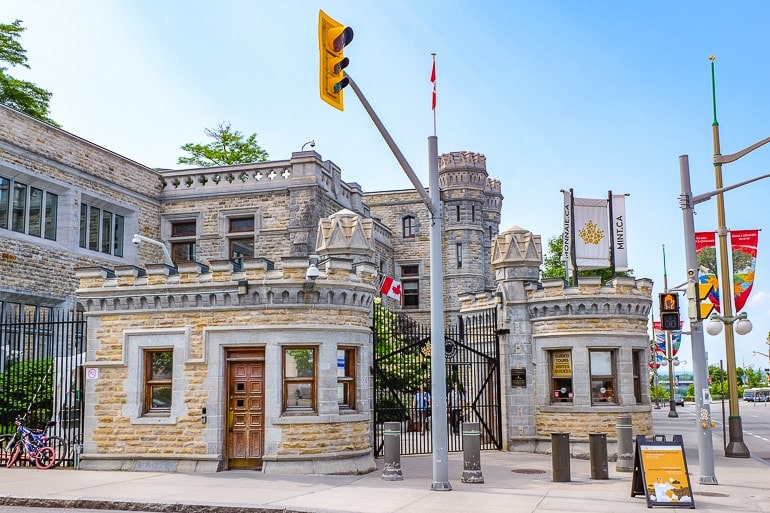 stone entrance with gate to canadian mint things to do in ottawa canada