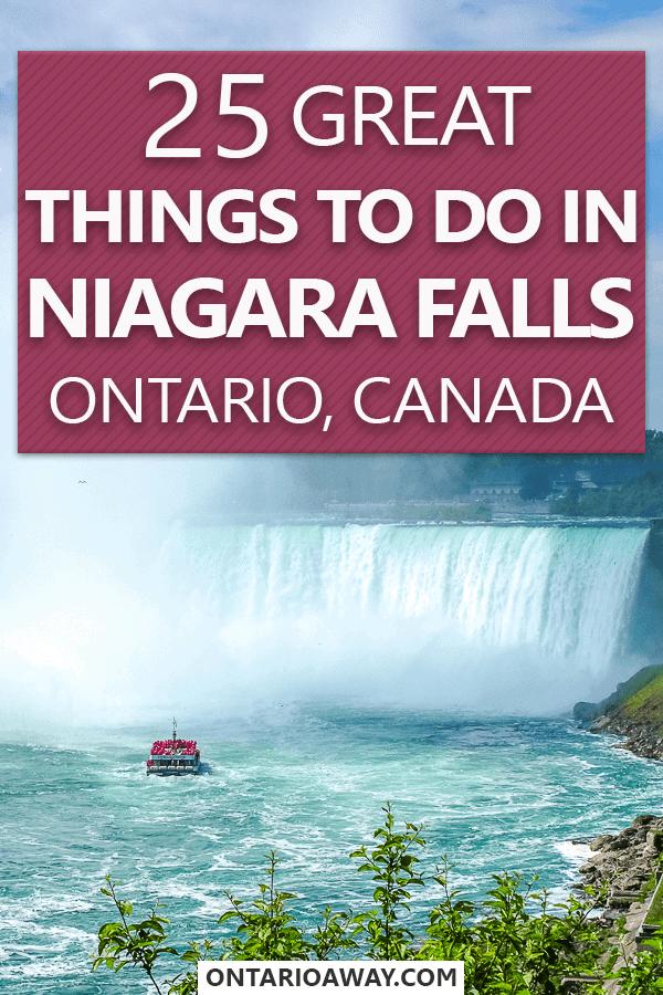 Great things to do in Niagara Falls Ontario Canada