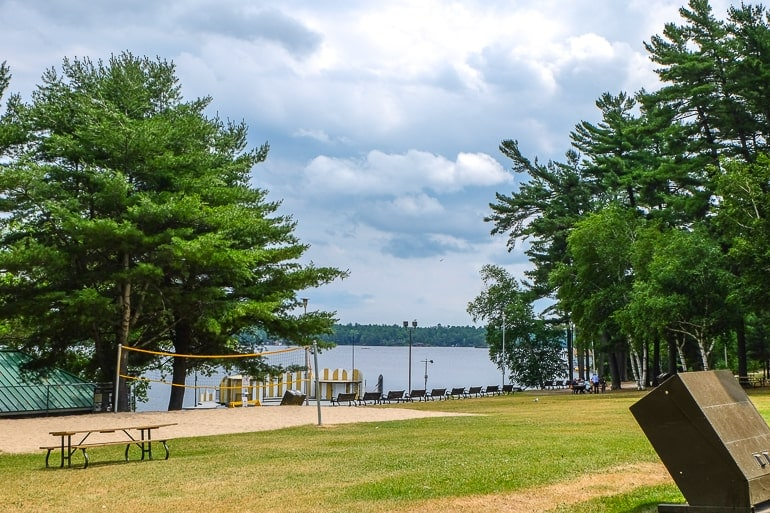 green park with beach front and trees thing to do in gravenhurst gull lake park
