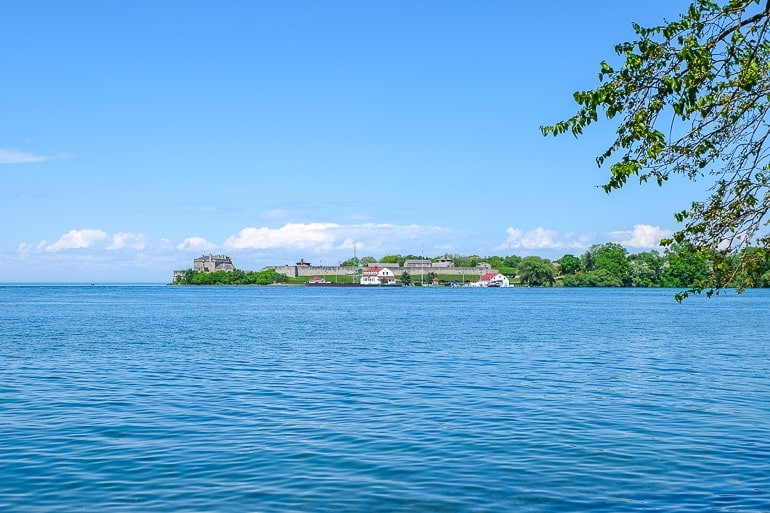 old fort across blue river from shoreline niagara on the lake