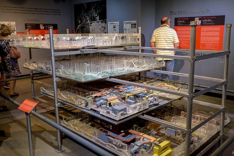 scale model of bunker in museum room diefenbunker museum ottawa