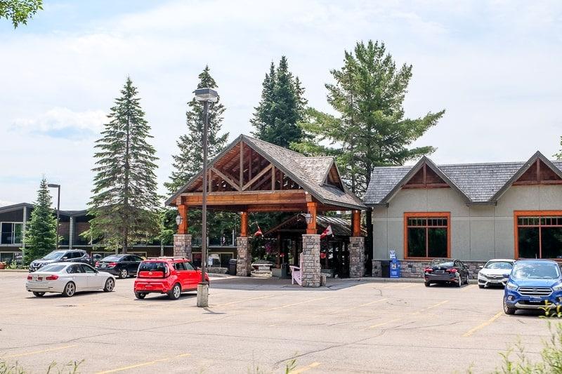 large lodge building to hidden valley resort huntsville