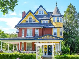 colourful old house with green trees around bed and breakfasts in ontario